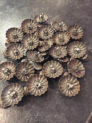 Lot Of 20 Vintage Tin Pine Cone Clip Candle Holders For Christmas Tree FREE SHIP