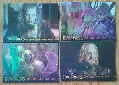 Individual Lord of the Rings Return of the King prismatic foil trading cards