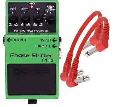 Boss PH-3 Phase Shifter Pedal PH3 + 2 Patch Cables