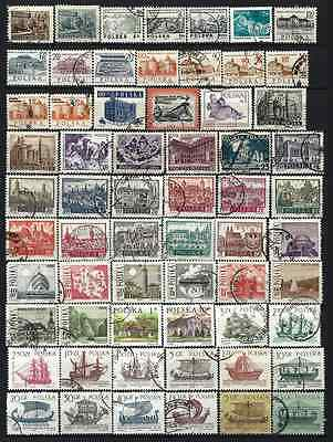 POLAND - Lote de sellos usados - Lot old stamps used - 5 scanns -02