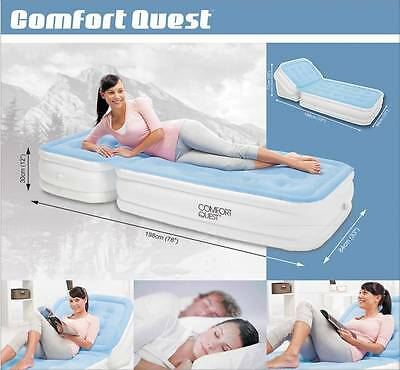 New Bestway Inflatable Adjustable Backrest Mattress / Air Bed (#67386)