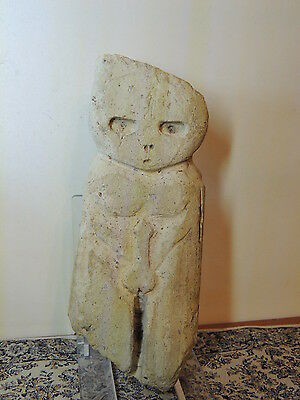 Antique Huge Stone Figure statuette,mother godess,fertility,humanoid alien,idol