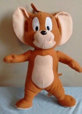 """TOM AND JERRY 13"""" Stuffed Animal Plush Brown JERRY MOUSE Toy Factory GUC"""