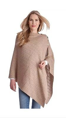 Seraphine New with tags Cable Knit Nursing Shawl / Pashmina / Scarf in Camel