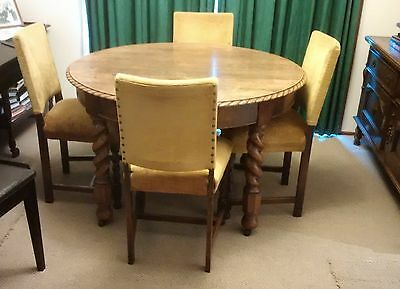Table,4 chairs & sideboard