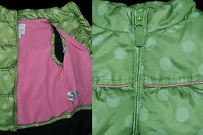 Next Girls Age 4-5 Years 110Cm Gilet Vest Bodywarmer Jacket Green Lined Padded
