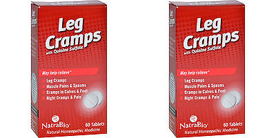 NatraBio Leg Cramps with Quinine Sulfate 60 Tablets (Paks of 2)