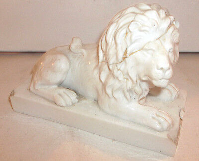 Very Rare Early Bloor Derby White Lion Figure  c1700s