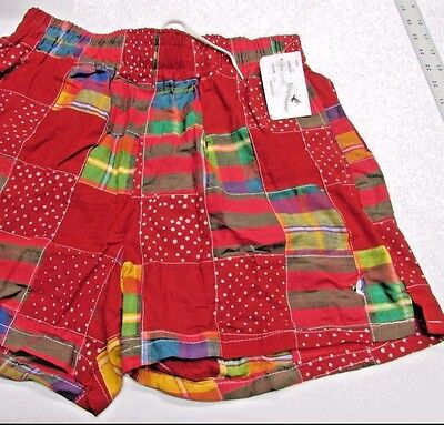 VINTAGE Patchwork MADRAS Mens Swim Shorts 36 Plaid Flying Scotsman USA New NOS
