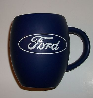 Ford Cobalt Blue Ceramic Coffee Cup with White Ford Logo