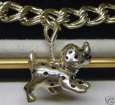DISNEY Sterling 101 Dalmatians Dog Charm Bracelet Limited Edition - Early 90's