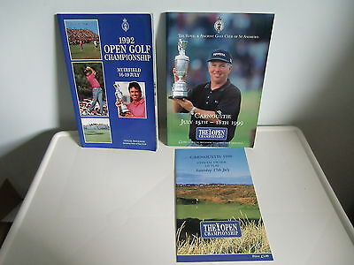 2 Open Championship Programmes - 1992 + 1999 + Order of Play