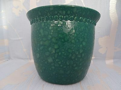 Scheurich Germany Malachite Green Colour Hammered Look Pottery Plant Pot/vase