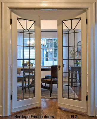 Classic heritage Interior glass doors Clear glass Silver or  dark Antique finish
