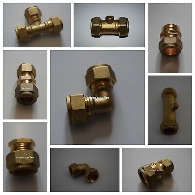 6mm- 22mm Brass Compression Fittings-Straight Elbow ,tee,plumbing,copper pipe