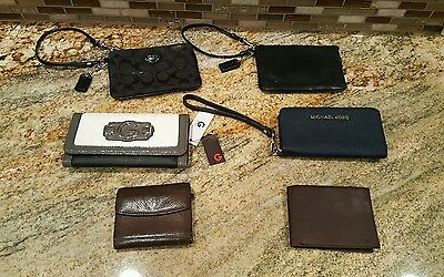 NEW and used WHOLESALE ReSale Lot  MEN'S WOMENS WRISTLETS WALLETS