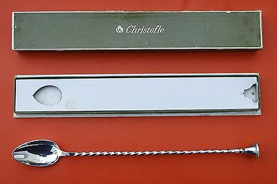 Christofle Silverplated Long Handled Cocktail Spoon 10 7/8 inches FRANCE