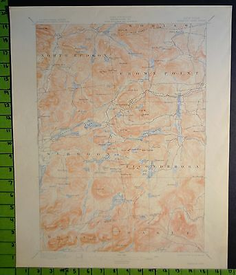 Paradox Lake New York 1914 Antique USGS Topographic Map 16x20