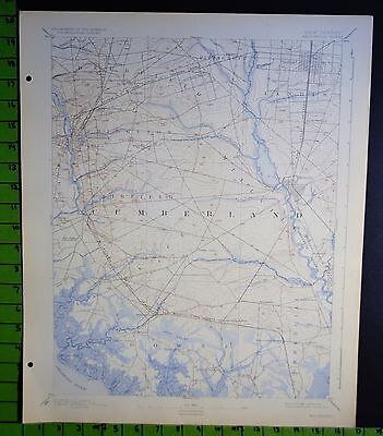 Bridgetown New Jersey 1924 Antique USGS Topographic Map 16x20