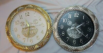 Islamic clock with image of mosque and ALLAH and MUHAMMAD