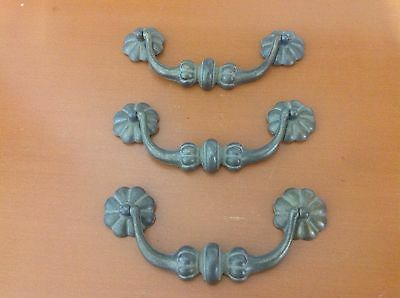 297 VTG  French Provincial Swing Pulls In Antique Brass Tone 3 Available