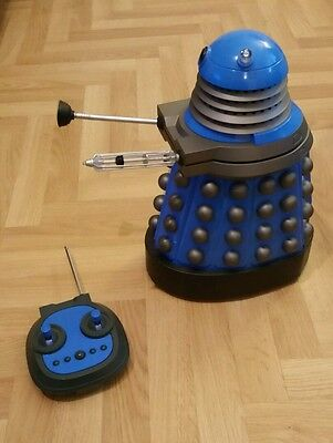 "Doctor Who 13"" R.C. Drone (RARE Blue) Dalek / In VGC / Lights & Sounds / READ"