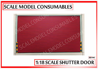 1:18 Scale High Quality Red Self Adhesive Roller Shutter Door Wall Diorama Decal
