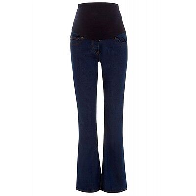 Maternity Dorothy Perkins Over The Bump Bootcut Jeans Indigo Size 10