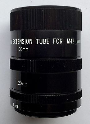 Access Pentax M42 Fit Macro Extension Tube Set of Three, Boxed.