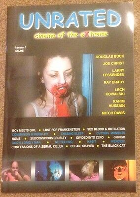 Unrated Magazine Issue 1 Rare Horror Cult