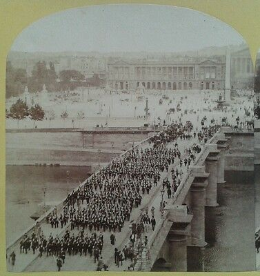 Photo Stereo Stereoview Fete Imperiale Place Concorde Napoleon Iii Paris France