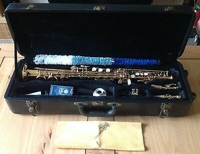 Bb Soprano Saxophone & Accessories In Hard Case-Hardly Used