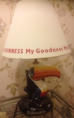 """""""My Goodness My Guinness"""" Toucan Advertising Lamp and Shade"""