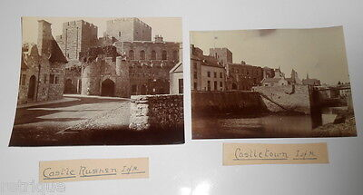 Two Early Photographs, Rushen Castle and Castletown Isle of Man.