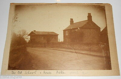 Old Picture of THE OLD SCHOOL HOUSE, ASTON. Possibly Real Photograph.