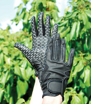Rhinegold Silicone Grip Riding Gloves|Horse Riding Gloves