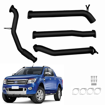 Ford Px Ranger 2012 On 3.2L Td 3''inch Turbo Back Exhaust No Cat/diff Pipe Blk
