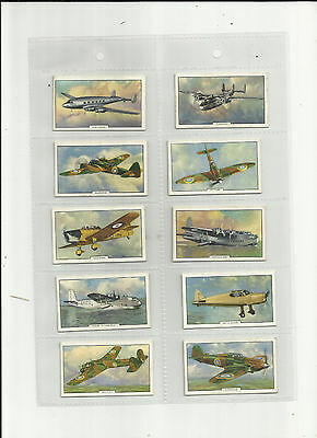Gallaher 1939 aeroplanes cigarette cards set of 50