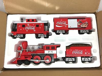Lionel 7-11488 Battery Powered Coca-Cola Holiday Train Set 4-4-0 Steam Engine