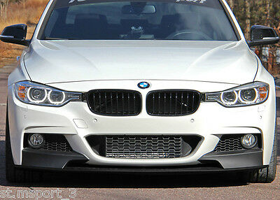 Bmw 3 Series F30 F31 Front Diffuser Splitter Lip Spoiler Side Skirt M Sport Tech