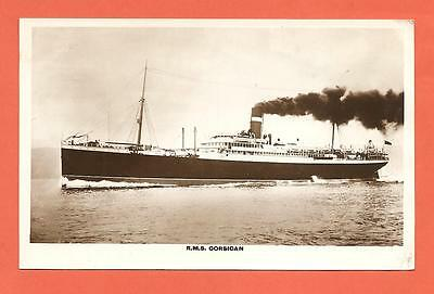 """Cruise Ship, S.S. """"Corsican"""", Canadian Pacific Line.  Postcard."""