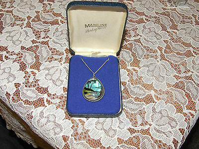 Vintage Silver 925 Butterfly Wings Pendant Tlm  Lovely Item Boxed Christmas