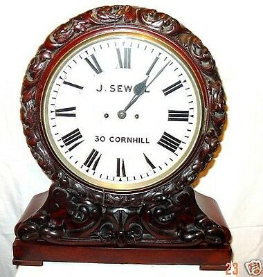 Antique Victorian Mahogany Cased Fusee Boardroom Clock