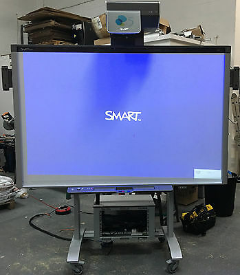 """SMART Board 87"""" SBX885-MP, UX60 UST Projector, Speakers and VeriHite Elec. Stand"""