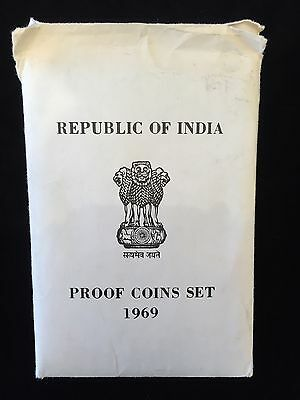 Republic Of India Proof Coins Set 1969