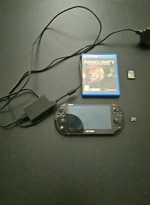 Ps Vita Console Slim With Minecraft,8gb Memory Card And Original Charger