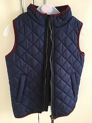 Duck & Dodge Navy Quilted Gilet 4-5 Years Present NWOT