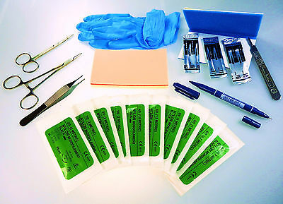 Suture Training Kit Professional Instruments Dental Medical Students New !