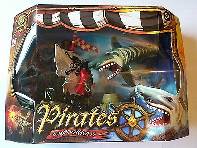 Pirates Expeditions Giant Shark Children's Toy Set Brand New & Sealed