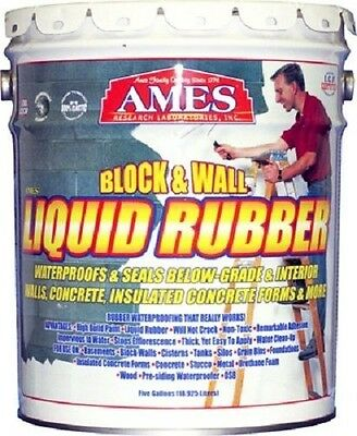 Ames 5 Gallon BWRF5 Block & Wall Liquid Rubber Waterproofing Basement Coating